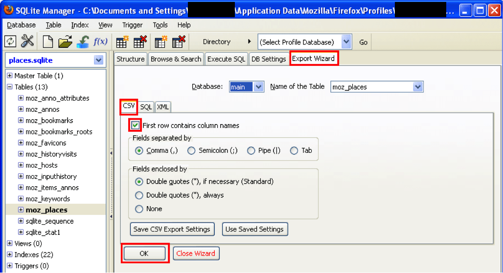 Finding Deleted URLs in Mozilla Firefox places sqlite File