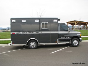 Sideview of mobile digital forensics lab