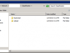 View of the classification folder with two shared folders.
