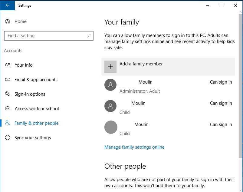Windows 10 Parental Control Settings | JoshMoulin com